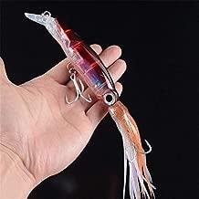 Leezo Kunstk/öder Squid//Octopus Form 14 cm//40 g wiederverwendbarer ABS-Kunststoff Karbonstahl Hartk/öder Salzwasser S/ü/ßwasser Angelzubeh/ör