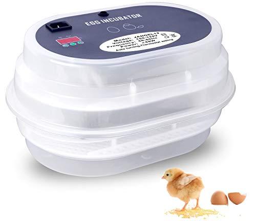 HBLIFE 孵卵器 孵化器 自動転卵 ウズラ 9~12枚 孵化率アップ 簡単操作 孵卵機 ふ卵器 ふ卵機 ふ化器 インキュベーター 実験用 小型自動孵卵 日本語説明書付き (自動)