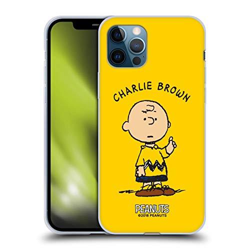 Head Case Designs Licenza Ufficiale Peanuts Charlie Brown Personaggi Cover in Morbido Gel Compatibile con Apple iPhone 12 / iPhone 12 PRO