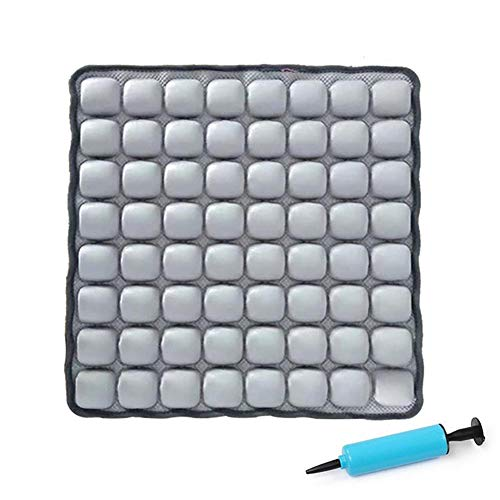 WYXR ROHO MOSAIC Cushion, Comfortable Inflatable Seat Cushion for Office Chair, Wheelchair, Cars, Home Living, & Back Pain Support, Adjustable Cushion with Lycra Cover and Non-Skid Mesh Bottom,Gray