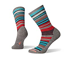 A pair of striped Smartwool socks.