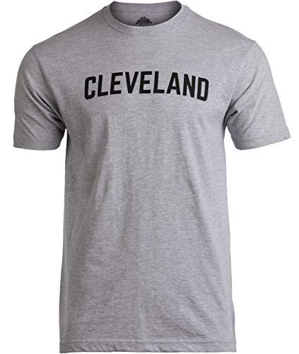 Cleveland | Classic Retro Grey Clevelander Ohio Cleve CLE 216 Men Women T-Shirt-(Adult,3XL)