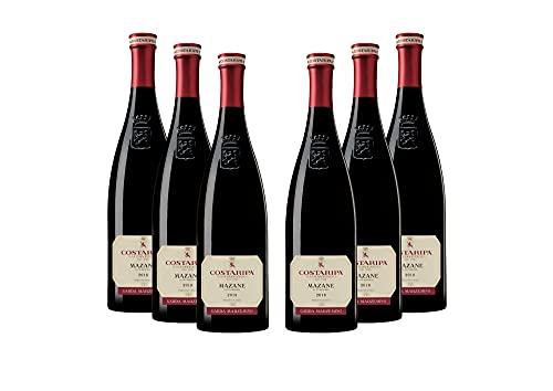 COSTARIPA Mazane DOC 2018, 6 Bottiglie di Vino Rosso, Vitigno Marzemino del Garda, Profumo di Frutti Rossi, Rosso Rubino, Vino Morbido, Ideale abbinato al pesce