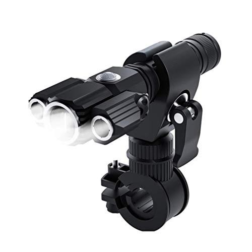 BESPORTBLE Juego de Luces Delanteras LED Impermeables para Bicicleta Linterna Recargable USB Linterna de Aleación de Aluminio sin Batería para Bicicleta