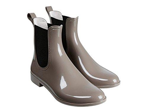Damen Regenstiefeletten wasserdicht Regenstiefel Stiefel Hellbraun (38)