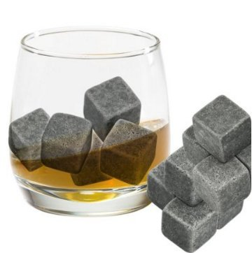 Demarkt Whisky Steine 9 Stück Natürlichen Speckstein Wiederverwendbare Eiswürfel Whiskysteine Speckstein Kühlsteine - 4