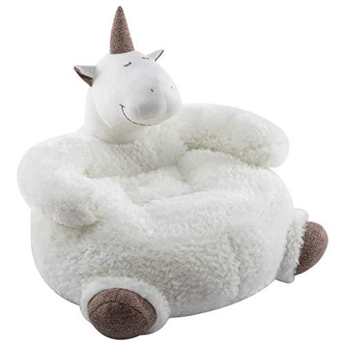 Canapés Meubles pour Tout-Petits Tabouret de Chambre pour Enfant siège de canapé Paresseux pour Enfant Mini canapé siège de bébé en Carton (Color : Blanc, Size : 65cm*42cm)