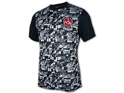 UMBRO 1. FC Nürnberg Warm Up Shirt 20 21 schwarz FCN Fan Jersey Fußball Trikot, Größe:XL
