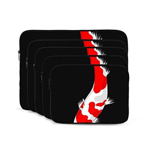 QUEMIN Bolsa antiestática de Hombro para computadora portátil y Tableta para Estudiantes Unisex Trabajadores Pintura de Peces Koi-10 Pulgadas