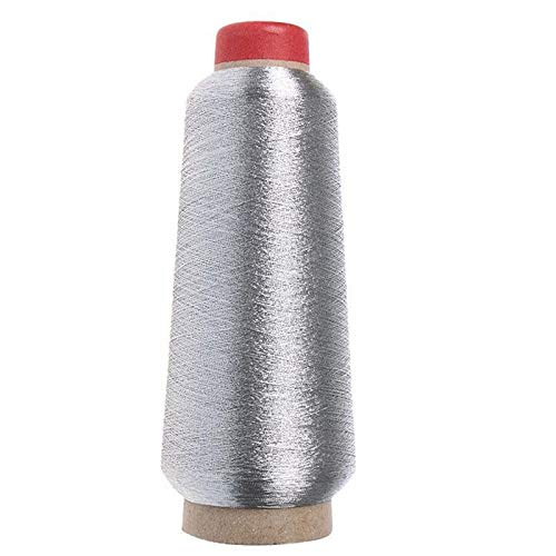 Borduurgaren 150d Naaimachine Cone Threads Polyester Overlocking Golden Silver Color Sewing Thread ZHQHYQHHX (Color : Silver, Size : 1)