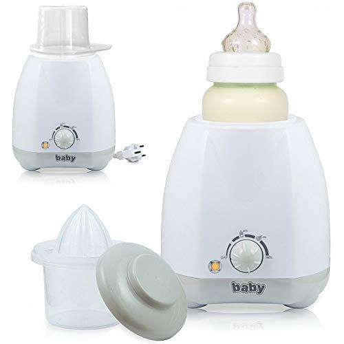 Elektrischer Babykostwärmer Flaschenwärmer für Babyflaschen mit Thermostat und stufenloser Regelung grau