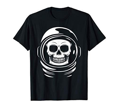 Cráneo de astronauta retro Regalos espaciales de Halloween Camiseta