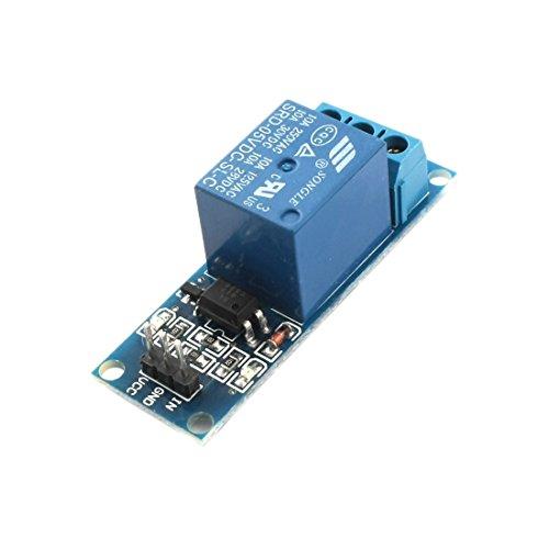 Aexit SRD-05VDC-SL-C Módulo de relé optoacoplador de alto nivel de 1 (model: A6087IIVI-5351BF) vía DC5V 10A