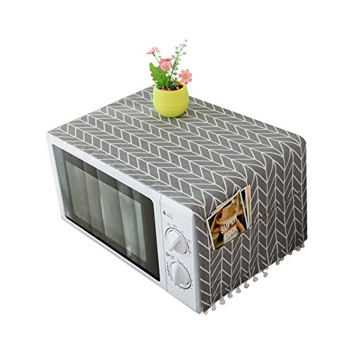 ACAMPTAR Cubierta de Polvo de Horno Microondas Campana de Cocina con Bolsa de Almacenamiento Accesorios de Cocina Suministros de Decoración del Hogar