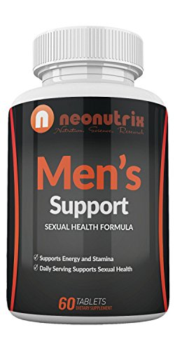 Men's Support Libido Enhancer with Pure Tongkat Ali Powder & Maca Root for Better Sexual Performance by Boosting Energy, Stamina, Testosterone Level & Blood Flow - 60 Tabs - Made in USA by Neonutrix