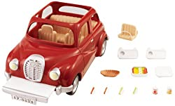 Red Sylvanian Families car This car can fit the family of four Well-made with fine attention to detail Stimulating imaginative role-play in children Suitable for ages 3 years to 10 years
