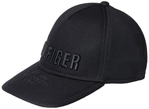 Tommy Hilfiger Herren Bold Hilfiger Baseball Cap, Schwarz (Black 002), One Size (Herstellergröße:OS)