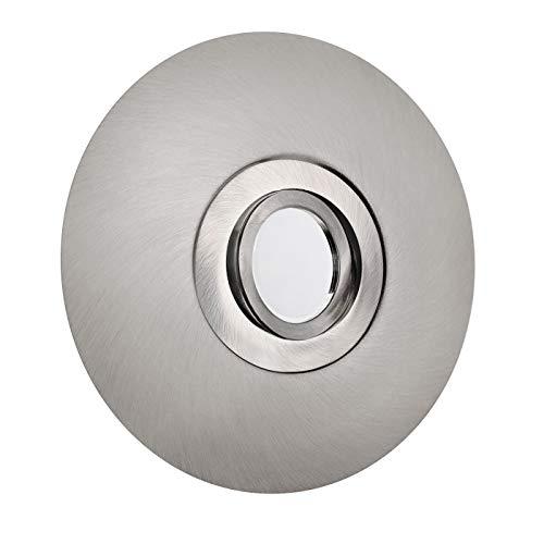 LED Einbaustrahler für große Lochausschnitte 68-180mm Aluminium Spot Einbauleuchte schwenkbar Edelstahl geb. DSK1 GU10-230V Inkl. LED warmweiß