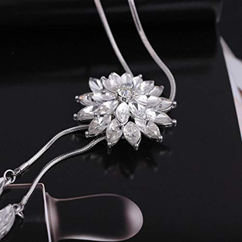 Clearance Deals Fahion Women Charm Bridal Engagement Crystal Rhinestone Snowflake Pendant Necklace Jewelry Gift by ZYooh (C)