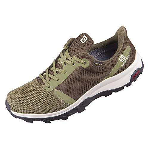 Salomon Outbound Prism Gore-Tex (impermeable) Hombre Zapatos de trekking, Verde (Deep Lichen Green/Olive Night/Vanilla Ice), 42 EU