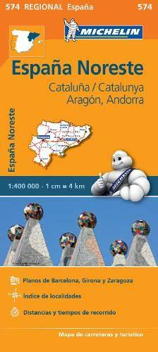 Mapa Regional Cataluña,/Catalunya, Aragón, Andorra (Carte regionali)