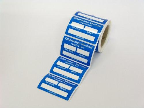 Stickerla Kundendienst Aufkleber Serviceaufkleber Inspektionsaufkleber (1 Stück, Zahnriemenwechsel)