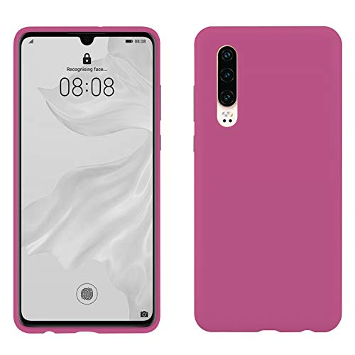 TBOC Rosa Gel TPU Hülle für Huawei P30 [6.1 Zoll] Superdünn Flexibel Silikon Gehäuse für Handy [Nicht Kompatibel mit Huawei P30 Pro]