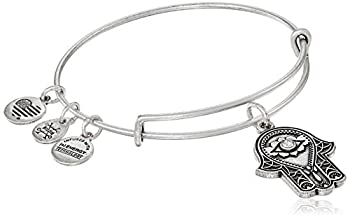 Alex and Ani Hand of Fatima III Bangle Bracelet Rafaelian Silver Expandable