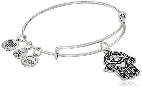 Alex and Ani Hand of Fatima III Bangle Bracelet, Rafaelian Silver, Expandable
