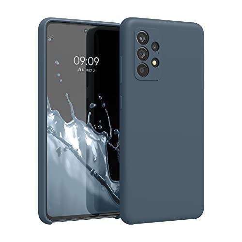 kwmobile Hülle kompatibel mit Samsung Galaxy A52 / A52 5G / A52s 5G - Hülle Silikon gummiert - Handyhülle - Handy Hülle in Slate Gray