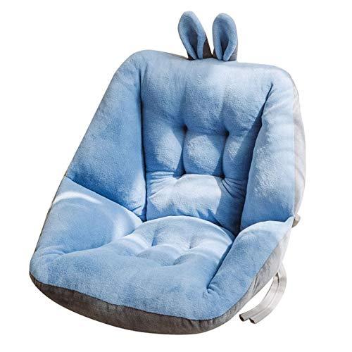 RAQ Comfort half ligkussen voor bureaustoel, pijnverlichtende ischiasstoelen voor stoelen met rugleuning en kussen 45x45cm Blauw