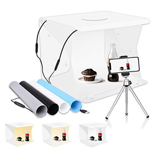 "Upgrade Emart 14"" x 16"" Photography Table Top Light Box 104 LED Portable Photo Studio Shooting Tent"