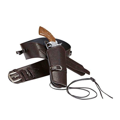NET TOYS Cinturón Armas Oeste Cowboy Llevar Pistolas