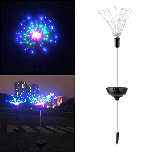 DAOGU 90LED de energía solar jardín luz luces de Navidad lámpara de césped LED al aire libre, luces solares para jardín, patio, patio, flores, fiestas (C)
