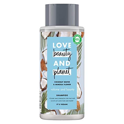 Love Beauty and Planet Volume & Bounty Shampoo aus Kokoswasser & Mimose, 400 ml