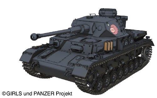 プラッツ ガールズ&パンツァーシリーズ IV号戦車D型改 (F2型仕様) あんこうチームver. 1/35スケール プラモデル