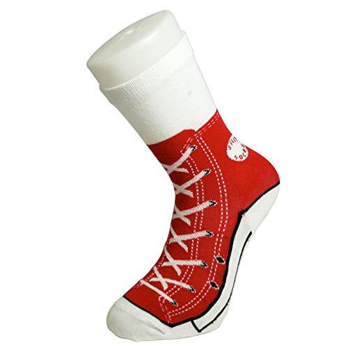 Mags Rote Sneaker Socken | lustige Geschenkidee für Frauen | Soxs | Damensocken | Freizeitsocken | Strümpfe | Bekleidung | Preis am Stiel®