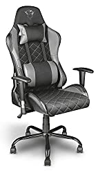 Trust Gaming GXT 707G Resto Gaming Stuhl Bürostuhl (Ergonomisch mit Höhenverstellbare Armlehnen) Grau