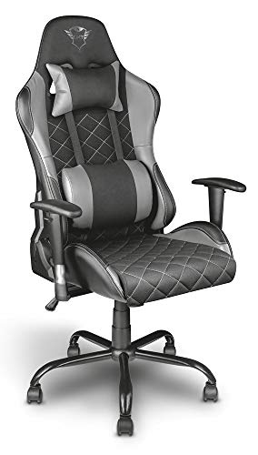 Trust Gaming GXT 707G Resto - Silla para Gaming,Gris/Negro