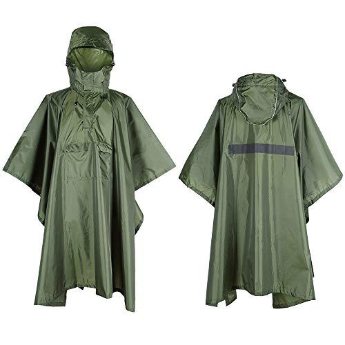 Lixada Poncho Imperméable, pour Hommes/Femmes imperméable de vêtements de Pluie imperméable de vêtements de Pluie avec la Rayure réfléchissante