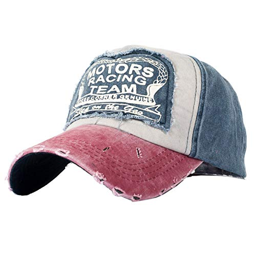 XUNQIARS - Gorra de béisbol unisex de algodón. Con visera hacia delante (snap back), estilo camionero (trucker). Gorra transpirable para motociclistas, etc.