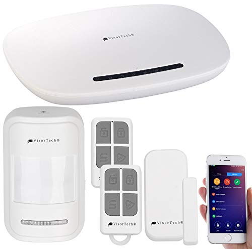 VisorTech Kabellose Alarmanlage: GSM-Alarmanlage mit Funk- & Handynetz-Anbindung, App für Android & iOS (Alarmanlage 12V)