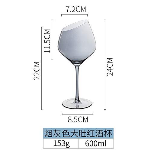 don997gfoh08yewi Porselein kleur schoonheid Europese schuine glas wijnglas thuis grote wijn glas hoge wijn glas champagne glas rode wijnglasRook grijs grote buik rode wijnglas