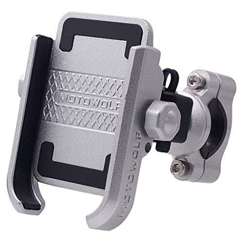 Ranuw Soporte de soporte para manillar de motocicleta y scooter, soporte para teléfono móvil de 4.5 a 7 pulgadas, universal, resistente al agua, 12 V, 24 V (A, S)
