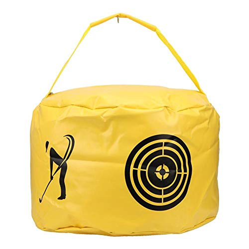 %11 OFF! Yellow Sturdy Durable Golf Swing Training Bag, PVC Golf Swing Bag, Golf Impact Bag, for Gol...