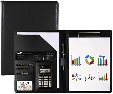 KMAKII Business Resume Portfolio Folder with Calculator Letter Size Writing Pad with Business product image