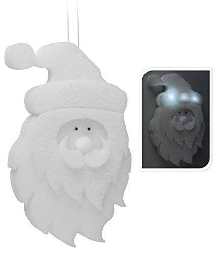 Père Noël avec lampe LED-Décoration-Noël mousse décoration de fenêtre