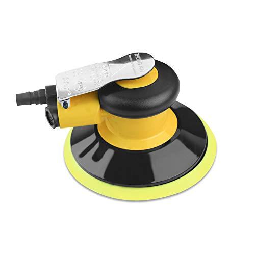 Nueva mejora Pulidora excéntrica Pulidora Aire comprimido 150 mm, Velocidad de ralentí: 13000 RPM, amoladora multifuncional pequeña y potente (150mm)