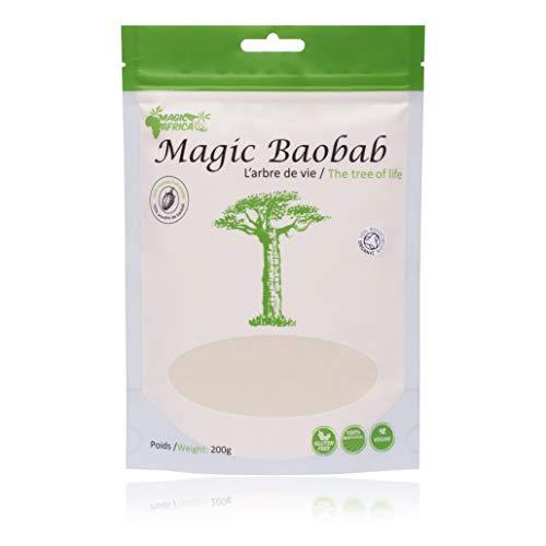 Magic Africa Baobab Superfuit Poeder - Niet GMO - 100% gecertificeerd Organisch - 200g
