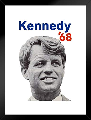 Bobby Kennedy for President 1968 RFK Poster 30,5 x 45,7 cm Framed Matted in Black Wood 20x26 inch Mehrfarbig / 11678